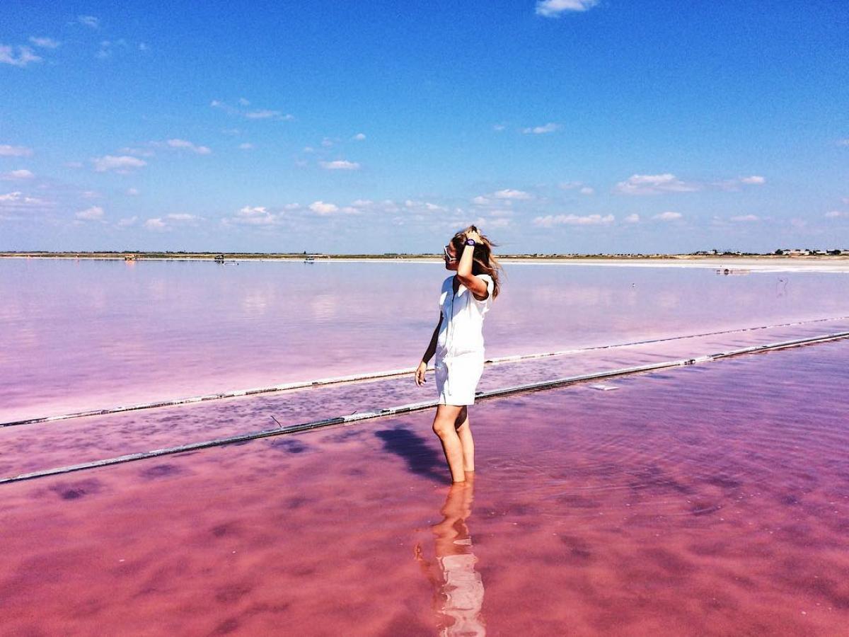 Розовое озеро алтайский край фотографии